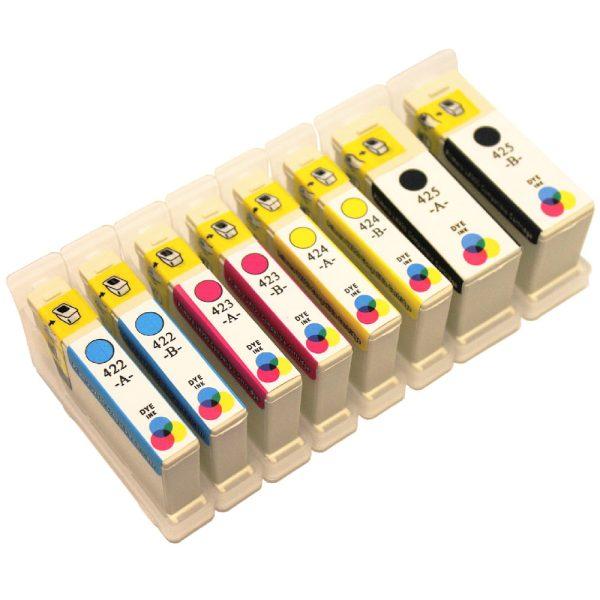 Complete CMYK set. LX900 compatible ink cartridges